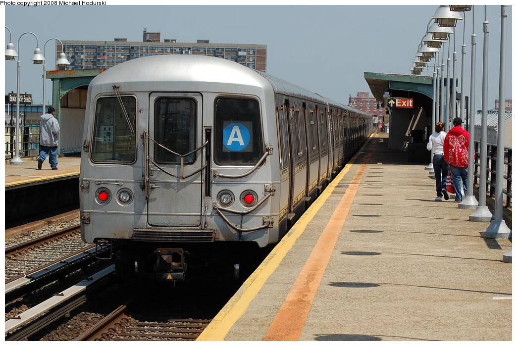 (259k, 1044x699)<br><b>Country:</b> United States<br><b>City:</b> New York<br><b>System:</b> New York City Transit<br><b>Line:</b> IND Rockaway<br><b>Location:</b> Beach 105th Street/Seaside <br><b>Route:</b> A<br><b>Car:</b> R-44 (St. Louis, 1971-73) 5446 <br><b>Photo by:</b> Michael Hodurski<br><b>Date:</b> 5/3/2008<br><b>Viewed (this week/total):</b> 1 / 1257