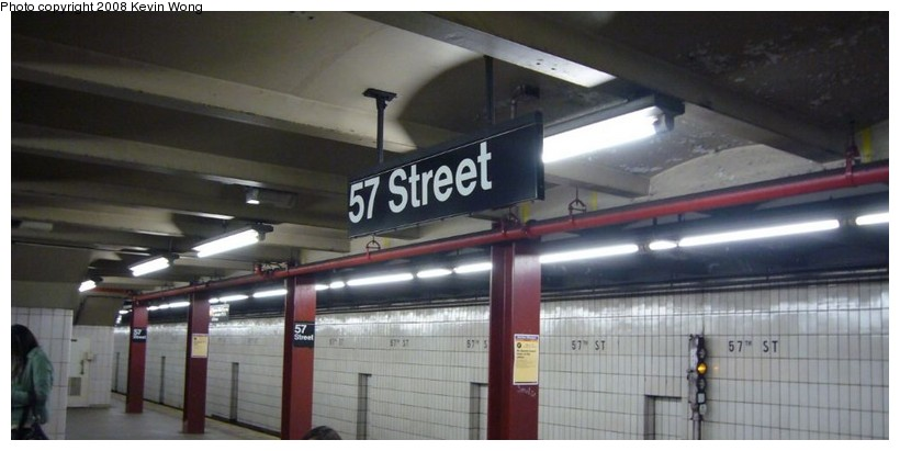 (73k, 820x411)<br><b>Country:</b> United States<br><b>City:</b> New York<br><b>System:</b> New York City Transit<br><b>Line:</b> IND 6th Avenue Line<br><b>Location:</b> 57th Street <br><b>Photo by:</b> Kevin Wong<br><b>Date:</b> 3/6/2008<br><b>Notes:</b> Platform view.<br><b>Viewed (this week/total):</b> 1 / 1008