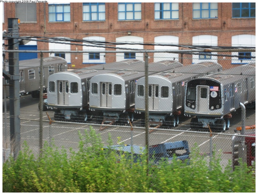(259k, 1044x788)<br><b>Country:</b> United States<br><b>City:</b> New York<br><b>System:</b> New York City Transit<br><b>Location:</b> Kawasaki Plant, Yonkers, NY<br><b>Car:</b> R-160B (Kawasaki, 2005-2008)   <br><b>Photo by:</b> Paul Pesante<br><b>Date:</b> 6/14/2008<br><b>Viewed (this week/total):</b> 0 / 1457