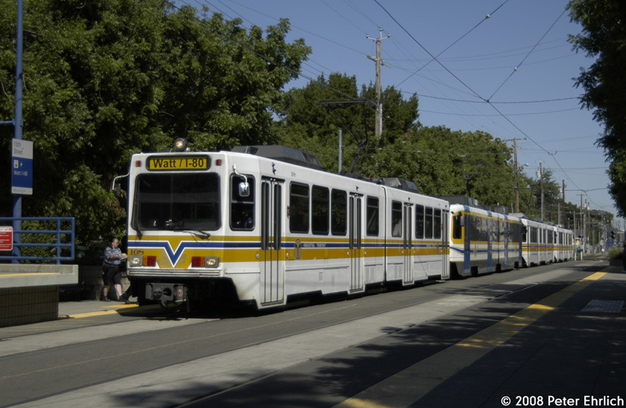 (191k, 897x585)<br><b>Country:</b> United States<br><b>City:</b> Sacramento, CA<br><b>System:</b> SACRT Light Rail<br><b>Location:</b> 13th Street <br><b>Car:</b> Sacramento Siemens LRV  108 <br><b>Photo by:</b> Peter Ehrlich<br><b>Date:</b> 5/16/2008<br><b>Notes:</b> Inbound train at 13th St.<br><b>Viewed (this week/total):</b> 1 / 711