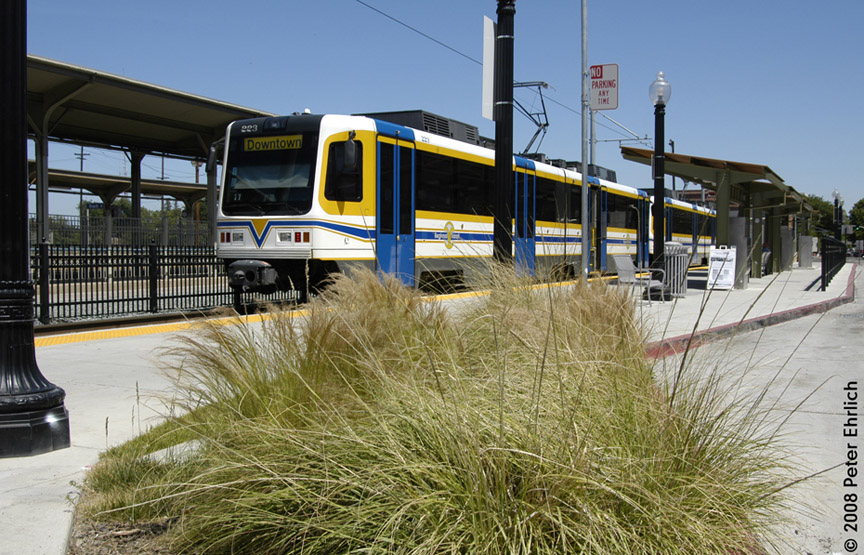 (230k, 864x555)<br><b>Country:</b> United States<br><b>City:</b> Sacramento, CA<br><b>System:</b> SACRT Light Rail<br><b>Location:</b> Sacramento Valley Station (Amtrak) <br><b>Car:</b> Sacramento CAF LRV  223 <br><b>Photo by:</b> Peter Ehrlich<br><b>Date:</b> 5/16/2008<br><b>Viewed (this week/total):</b> 0 / 494