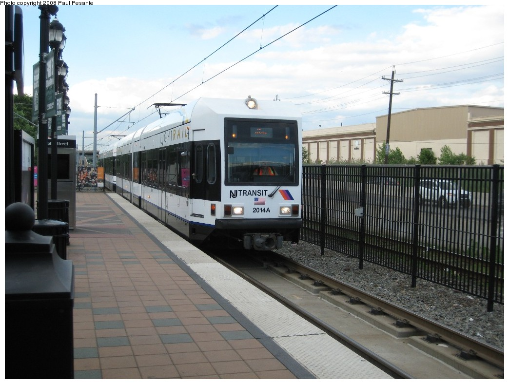(200k, 1044x788)<br><b>Country:</b> United States<br><b>City:</b> Bayonne, NJ<br><b>System:</b> Hudson Bergen Light Rail<br><b>Location:</b> East 45th Street <br><b>Car:</b> NJT-HBLR LRV (Kinki-Sharyo, 1998-99)  2014 <br><b>Photo by:</b> Paul Pesante<br><b>Date:</b> 6/19/2008<br><b>Viewed (this week/total):</b> 1 / 534