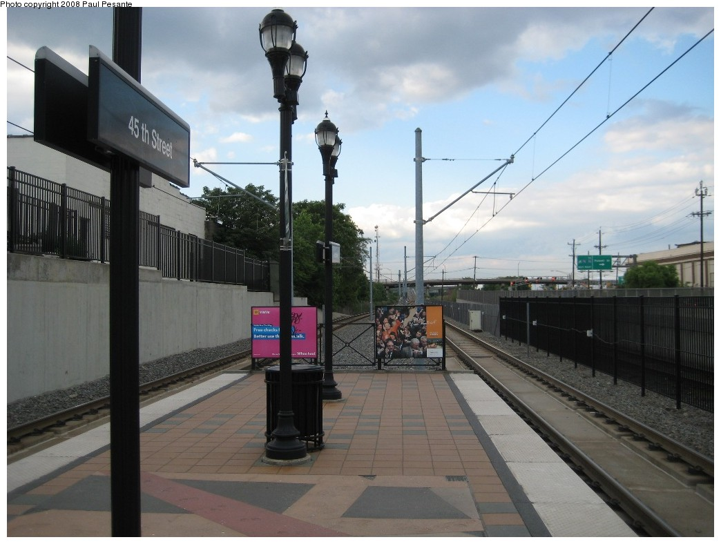 (180k, 1044x788)<br><b>Country:</b> United States<br><b>City:</b> Bayonne, NJ<br><b>System:</b> Hudson Bergen Light Rail<br><b>Location:</b> East 45th Street <br><b>Photo by:</b> Paul Pesante<br><b>Date:</b> 6/19/2008<br><b>Notes:</b> Station view.<br><b>Viewed (this week/total):</b> 2 / 516