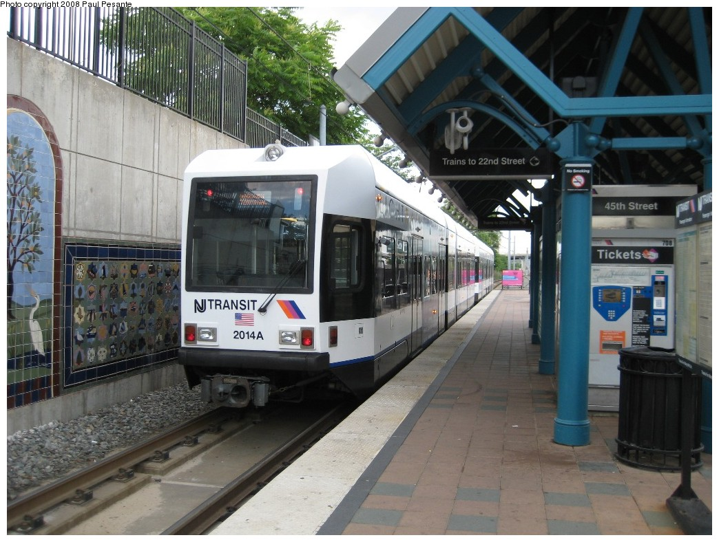 (230k, 1044x788)<br><b>Country:</b> United States<br><b>City:</b> Bayonne, NJ<br><b>System:</b> Hudson Bergen Light Rail<br><b>Location:</b> East 45th Street <br><b>Car:</b> NJT-HBLR LRV (Kinki-Sharyo, 1998-99)  2014 <br><b>Photo by:</b> Paul Pesante<br><b>Date:</b> 6/19/2008<br><b>Viewed (this week/total):</b> 0 / 437
