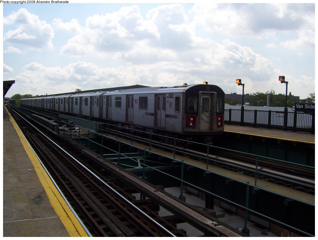 (199k, 1044x791)<br><b>Country:</b> United States<br><b>City:</b> New York<br><b>System:</b> New York City Transit<br><b>Line:</b> IRT Brooklyn Line<br><b>Location:</b> Van Siclen Avenue <br><b>Car:</b> R-142 (Primary Order, Bombardier, 1999-2002)  6781 <br><b>Photo by:</b> Aliandro Brathwaite<br><b>Date:</b> 6/19/2008<br><b>Viewed (this week/total):</b> 0 / 2086