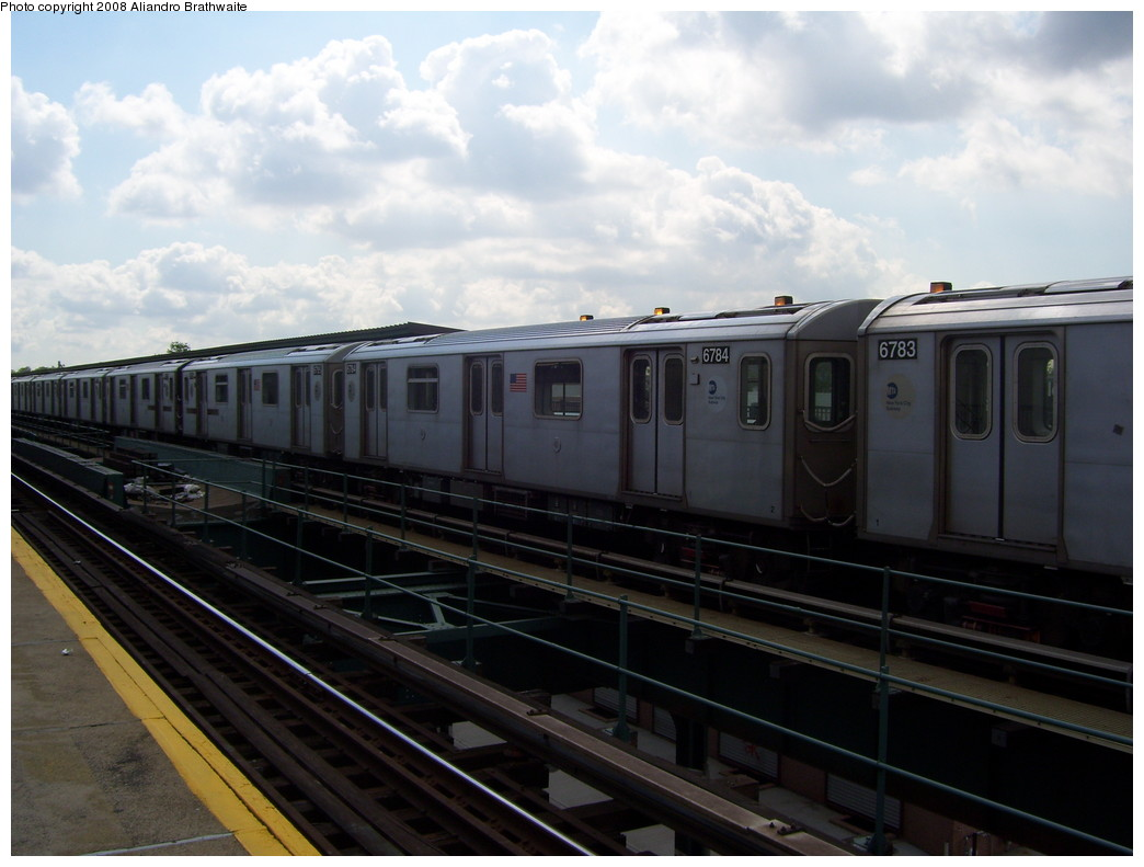(182k, 1044x791)<br><b>Country:</b> United States<br><b>City:</b> New York<br><b>System:</b> New York City Transit<br><b>Line:</b> IRT Brooklyn Line<br><b>Location:</b> Van Siclen Avenue <br><b>Car:</b> R-142 (Primary Order, Bombardier, 1999-2002)  6783 <br><b>Photo by:</b> Aliandro Brathwaite<br><b>Date:</b> 6/19/2008<br><b>Viewed (this week/total):</b> 1 / 1246
