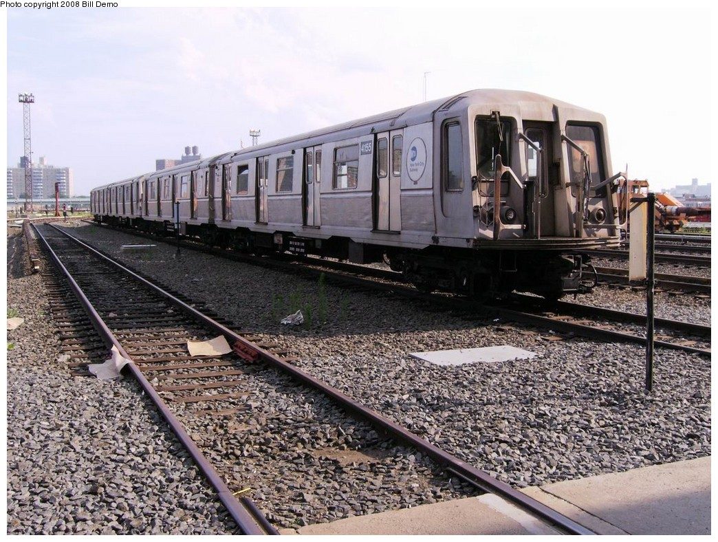 (278k, 1044x788)<br><b>Country:</b> United States<br><b>City:</b> New York<br><b>System:</b> New York City Transit<br><b>Location:</b> Coney Island Yard<br><b>Car:</b> R-40 (St. Louis, 1968)  4155 <br><b>Photo by:</b> Bill Demo<br><b>Date:</b> 7/1/2008<br><b>Viewed (this week/total):</b> 1 / 1685