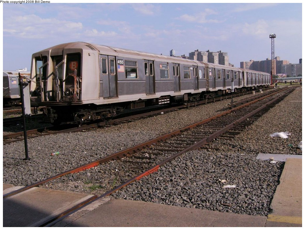 (269k, 1044x788)<br><b>Country:</b> United States<br><b>City:</b> New York<br><b>System:</b> New York City Transit<br><b>Location:</b> Coney Island Yard<br><b>Car:</b> R-40 (St. Louis, 1968)  4155 <br><b>Photo by:</b> Bill Demo<br><b>Date:</b> 7/1/2008<br><b>Viewed (this week/total):</b> 3 / 1414