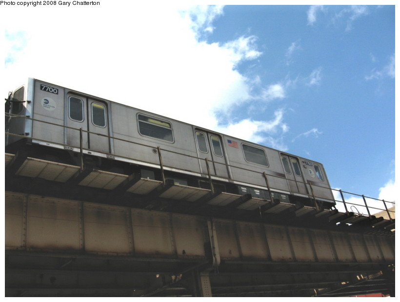 (85k, 820x620)<br><b>Country:</b> United States<br><b>City:</b> New York<br><b>System:</b> New York City Transit<br><b>Line:</b> IRT Woodlawn Line<br><b>Location:</b> 183rd Street <br><b>Route:</b> 4<br><b>Car:</b> R-142A (Option Order, Kawasaki, 2002-2003)  7700 <br><b>Photo by:</b> Gary Chatterton<br><b>Date:</b> 5/4/2008<br><b>Viewed (this week/total):</b> 1 / 1008