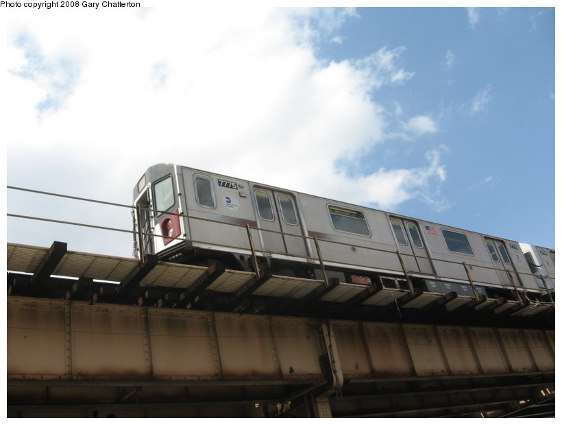 (89k, 820x620)<br><b>Country:</b> United States<br><b>City:</b> New York<br><b>System:</b> New York City Transit<br><b>Line:</b> IRT Woodlawn Line<br><b>Location:</b> 183rd Street <br><b>Route:</b> 4<br><b>Car:</b> R-142A (Supplemental Order, Kawasaki, 2003-2004)  7775 <br><b>Photo by:</b> Gary Chatterton<br><b>Date:</b> 5/4/2008<br><b>Viewed (this week/total):</b> 1 / 1263