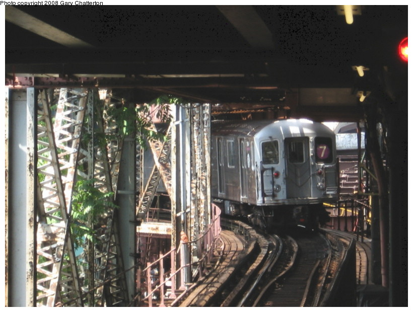(137k, 820x620)<br><b>Country:</b> United States<br><b>City:</b> New York<br><b>System:</b> New York City Transit<br><b>Line:</b> IRT Flushing Line<br><b>Location:</b> Queensborough Plaza <br><b>Route:</b> 7<br><b>Car:</b> R-62A (Bombardier, 1984-1987)  1964 <br><b>Photo by:</b> Gary Chatterton<br><b>Date:</b> 6/29/2008<br><b>Viewed (this week/total):</b> 1 / 1558