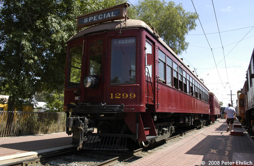 (228k, 864x564)<br><b>Country:</b> United States<br><b>City:</b> Perris, CA<br><b>System:</b> Orange Empire Railway Museum <br><b>Car:</b>  1299 <br><b>Photo by:</b> Peter Ehrlich<br><b>Date:</b> 6/14/2008<br><b>Notes:</b> At Pinacate Station.<br><b>Viewed (this week/total):</b> 1 / 248