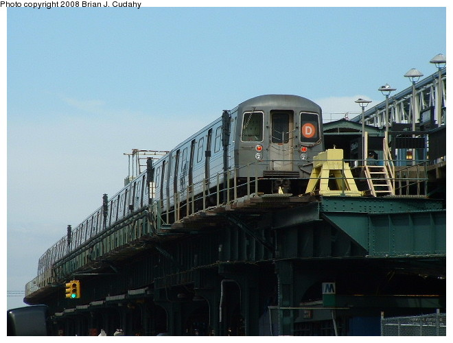 (87k, 660x500)<br><b>Country:</b> United States<br><b>City:</b> New York<br><b>System:</b> New York City Transit<br><b>Location:</b> Coney Island/Stillwell Avenue<br><b>Route:</b> D<br><b>Car:</b> R-68/R-68A Series (Number Unknown)  <br><b>Photo by:</b> Brian J. Cudahy<br><b>Date:</b> 3/10/2004<br><b>Notes:</b> Stillwell during re-construction.<br><b>Viewed (this week/total):</b> 3 / 1366