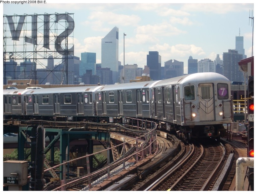 (185k, 820x620)<br><b>Country:</b> United States<br><b>City:</b> New York<br><b>System:</b> New York City Transit<br><b>Line:</b> IRT Flushing Line<br><b>Location:</b> Queensborough Plaza <br><b>Route:</b> 7<br><b>Car:</b> R-62A (Bombardier, 1984-1987)  2126 <br><b>Photo by:</b> Bill E.<br><b>Date:</b> 7/11/2008<br><b>Viewed (this week/total):</b> 0 / 1557