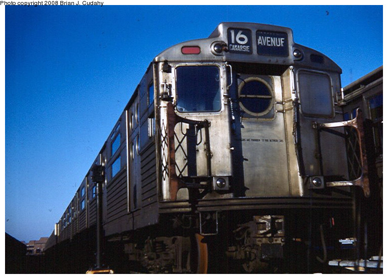 (156k, 771x555)<br><b>Country:</b> United States<br><b>City:</b> New York<br><b>System:</b> New York City Transit<br><b>Location:</b> Coney Island Yard<br><b>Car:</b> R-11 (Budd, 1949)  <br><b>Photo by:</b> Brian J. Cudahy<br><b>Date:</b> 1958<br><b>Viewed (this week/total):</b> 0 / 1564