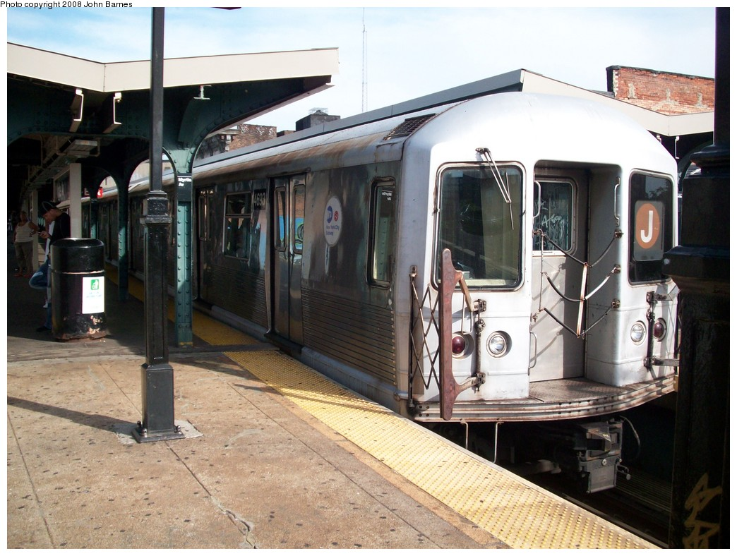 (230k, 1044x788)<br><b>Country:</b> United States<br><b>City:</b> New York<br><b>System:</b> New York City Transit<br><b>Line:</b> BMT Nassau Street/Jamaica Line<br><b>Location:</b> Myrtle Avenue <br><b>Route:</b> J<br><b>Car:</b> R-42 (St. Louis, 1969-1970)  4693 <br><b>Photo by:</b> John Barnes<br><b>Date:</b> 7/10/2008<br><b>Viewed (this week/total):</b> 0 / 713