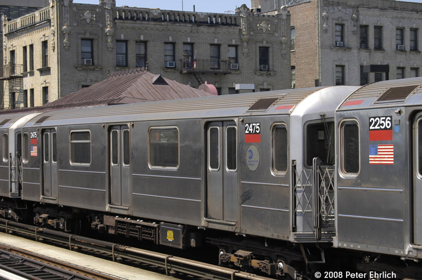 (196k, 864x574)<br><b>Country:</b> United States<br><b>City:</b> New York<br><b>System:</b> New York City Transit<br><b>Line:</b> IRT West Side Line<br><b>Location:</b> North of 215th Street <br><b>Car:</b> R-62A (Bombardier, 1984-1987)  2475 <br><b>Photo by:</b> Peter Ehrlich<br><b>Date:</b> 7/15/2008<br><b>Notes:</b> Inbound.   Highest-numbered R62A.<br><b>Viewed (this week/total):</b> 0 / 947