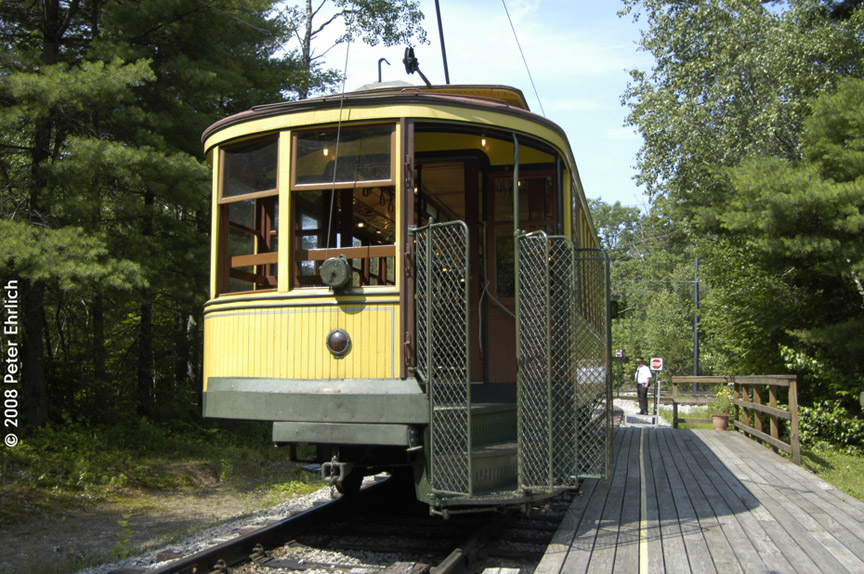 (238k, 864x574)<br><b>Country:</b> United States<br><b>City:</b> Kennebunk, ME<br><b>System:</b> Seashore Trolley Museum <br><b>Car:</b> Twin City Rapid Transit 1267 <br><b>Photo by:</b> Peter Ehrlich<br><b>Date:</b> 7/18/2008<br><b>Notes:</b> Twin City Rapid Transit 1267.  At Talbot Park.<br><b>Viewed (this week/total):</b> 0 / 529
