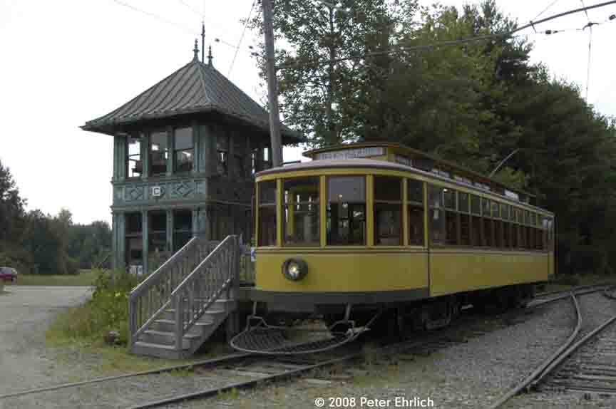 (65k, 864x574)<br><b>Country:</b> United States<br><b>City:</b> Kennebunk, ME<br><b>System:</b> Seashore Trolley Museum <br><b>Car:</b> Twin City Rapid Transit 1267 <br><b>Photo by:</b> Peter Ehrlich<br><b>Date:</b> 7/18/2008<br><b>Notes:</b> Twin City Rapid Transit 1267.  At Tower C, next to Visitor Center.<br><b>Viewed (this week/total):</b> 1 / 566