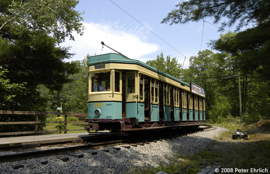 (239k, 864x558)<br><b>Country:</b> United States<br><b>City:</b> Kennebunk, ME<br><b>System:</b> Seashore Trolley Museum <br><b>Car:</b>  1700 <br><b>Photo by:</b> Peter Ehrlich<br><b>Date:</b> 7/18/2008<br><b>Notes:</b> 1700 at Talbot Park.<br><b>Viewed (this week/total):</b> 0 / 408
