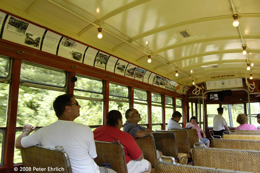 (214k, 864x574)<br><b>Country:</b> United States<br><b>City:</b> Kennebunk, ME<br><b>System:</b> Seashore Trolley Museum <br><b>Car:</b> TARS 631 <br><b>Photo by:</b> Peter Ehrlich<br><b>Date:</b> 7/18/2008<br><b>Notes:</b> Third Avenue Railway System Huffliner: 631. Interior.<br><b>Viewed (this week/total):</b> 0 / 605