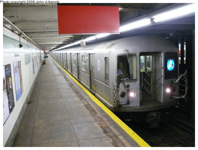 (110k, 660x500)<br><b>Country:</b> United States<br><b>City:</b> New York<br><b>System:</b> New York City Transit<br><b>Line:</b> IND Fulton Street Line<br><b>Location:</b> Lafayette Avenue <br><b>Route:</b> A<br><b>Car:</b> R-40M (St. Louis, 1969)  4549 <br><b>Photo by:</b> John Urbanski<br><b>Date:</b> 7/26/2008<br><b>Viewed (this week/total):</b> 2 / 2408