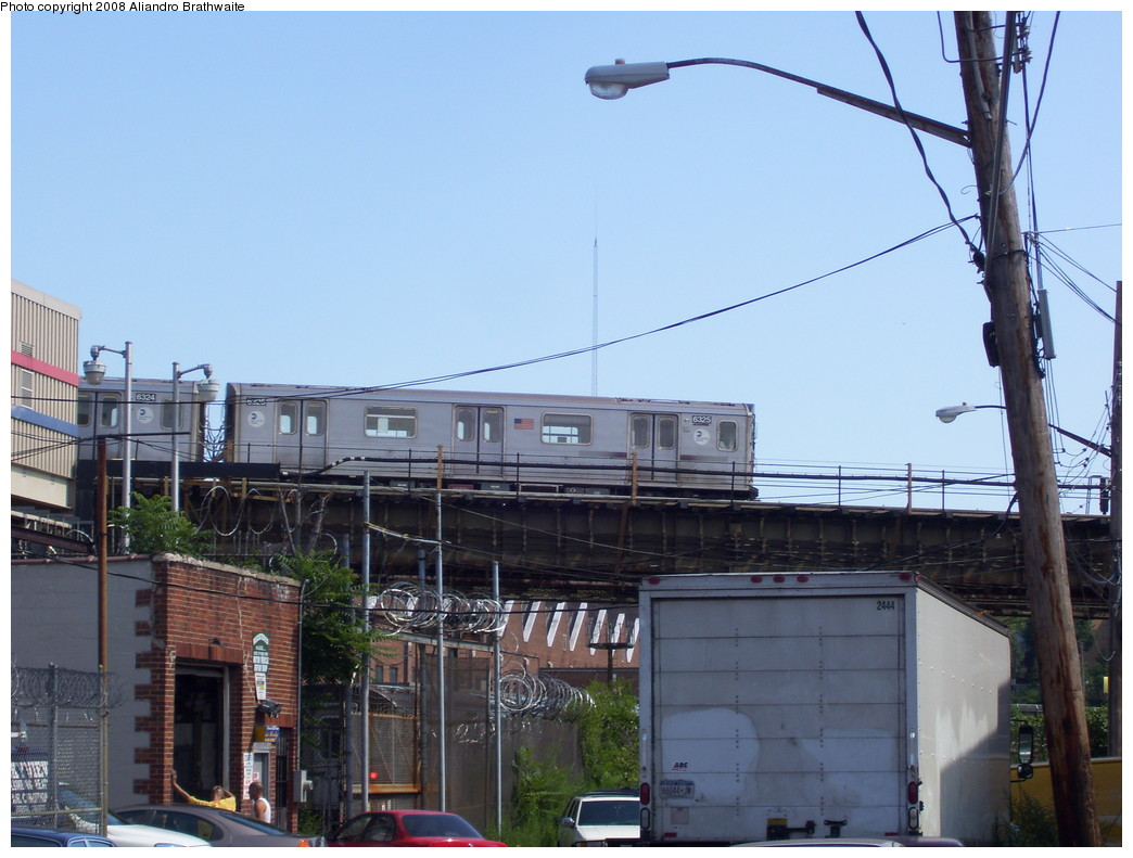 (205k, 1044x791)<br><b>Country:</b> United States<br><b>City:</b> New York<br><b>System:</b> New York City Transit<br><b>Location:</b> 239th Street Yard<br><b>Car:</b> R-142 (Primary Order, Bombardier, 1999-2002)  6325 <br><b>Photo by:</b> Aliandro Brathwaite<br><b>Date:</b> 7/25/2008<br><b>Viewed (this week/total):</b> 6 / 2341