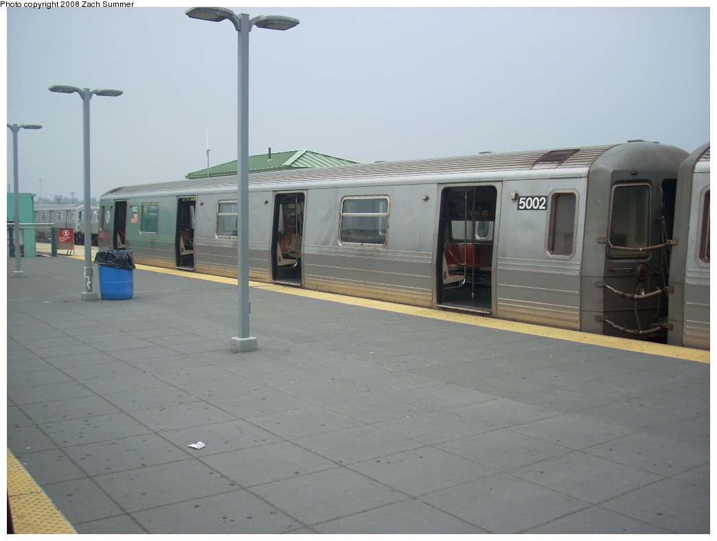 (180k, 1044x788)<br><b>Country:</b> United States<br><b>City:</b> New York<br><b>System:</b> New York City Transit<br><b>Location:</b> Coney Island/Stillwell Avenue<br><b>Route:</b> Q<br><b>Car:</b> R-68A (Kawasaki, 1988-1989)  5002 <br><b>Photo by:</b> Zach Summer<br><b>Date:</b> 7/6/2008<br><b>Viewed (this week/total):</b> 1 / 949