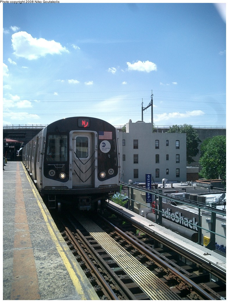 (266k, 788x1044)<br><b>Country:</b> United States<br><b>City:</b> New York<br><b>System:</b> New York City Transit<br><b>Line:</b> BMT Astoria Line<br><b>Location:</b> Ditmars Boulevard <br><b>Route:</b> N<br><b>Car:</b> R-160A/R-160B Series (Number Unknown)  <br><b>Photo by:</b> Niko Goutakolis<br><b>Date:</b> 7/27/2007<br><b>Viewed (this week/total):</b> 6 / 1405