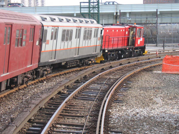 (62k, 600x450)<br><b>Country:</b> United States<br><b>City:</b> New York<br><b>System:</b> New York City Transit<br><b>Location:</b> Coney Island Yard<br><b>Car:</b> R-47 (SBK) Locomotive  N2 <br><b>Photo by:</b> Professor J<br><b>Date:</b> 4/12/2008<br><b>Viewed (this week/total):</b> 2 / 751