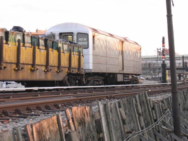(41k, 600x450)<br><b>Country:</b> United States<br><b>City:</b> New York<br><b>System:</b> New York City Transit<br><b>Location:</b> Coney Island Yard<br><b>Route:</b> Work Service<br><b>Car:</b> R-127/R-134 (Kawasaki, 1991-1996)  <br><b>Photo by:</b> Professor J<br><b>Date:</b> 4/12/2008<br><b>Viewed (this week/total):</b> 0 / 1302