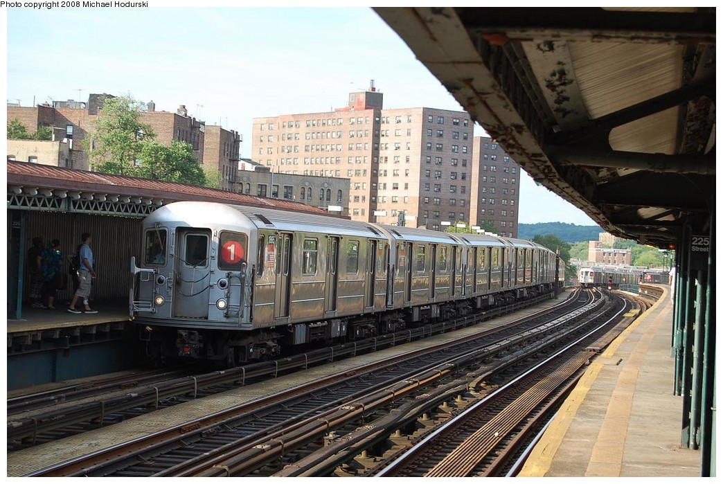 (266k, 1044x699)<br><b>Country:</b> United States<br><b>City:</b> New York<br><b>System:</b> New York City Transit<br><b>Line:</b> IRT West Side Line<br><b>Location:</b> 225th Street <br><b>Route:</b> 1<br><b>Car:</b> R-62A (Bombardier, 1984-1987)  1865 <br><b>Photo by:</b> Michael Hodurski<br><b>Date:</b> 6/24/2008<br><b>Viewed (this week/total):</b> 7 / 1024