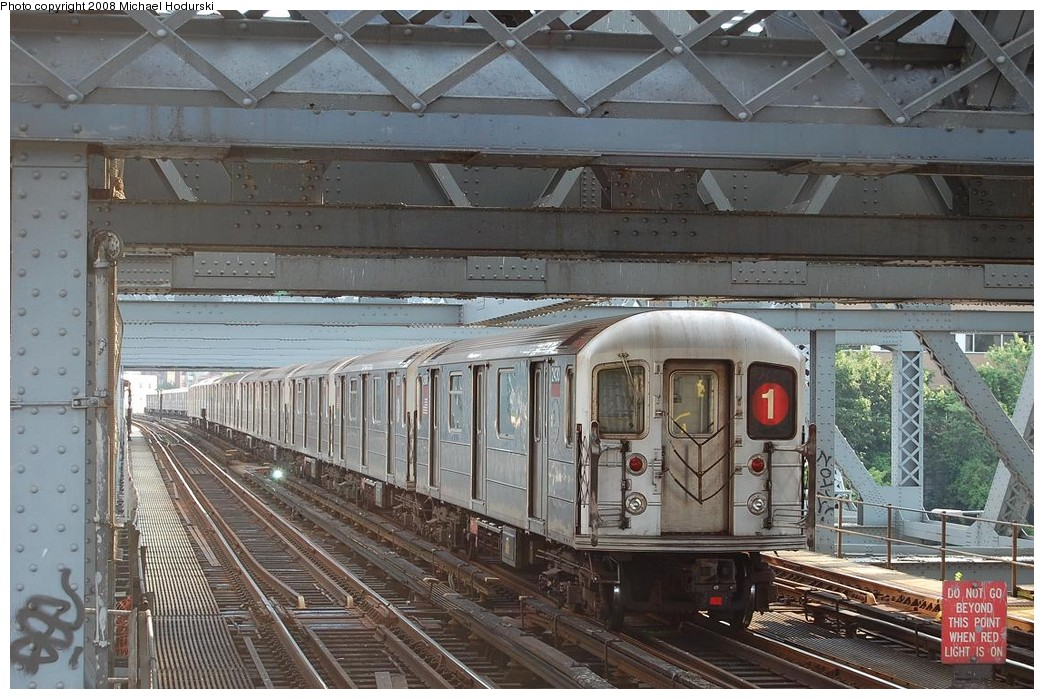 (265k, 1044x699)<br><b>Country:</b> United States<br><b>City:</b> New York<br><b>System:</b> New York City Transit<br><b>Line:</b> IRT West Side Line<br><b>Location:</b> Broadway Bridge <br><b>Route:</b> 1<br><b>Car:</b> R-62A (Bombardier, 1984-1987)  2430 <br><b>Photo by:</b> Michael Hodurski<br><b>Date:</b> 6/24/2008<br><b>Viewed (this week/total):</b> 1 / 968