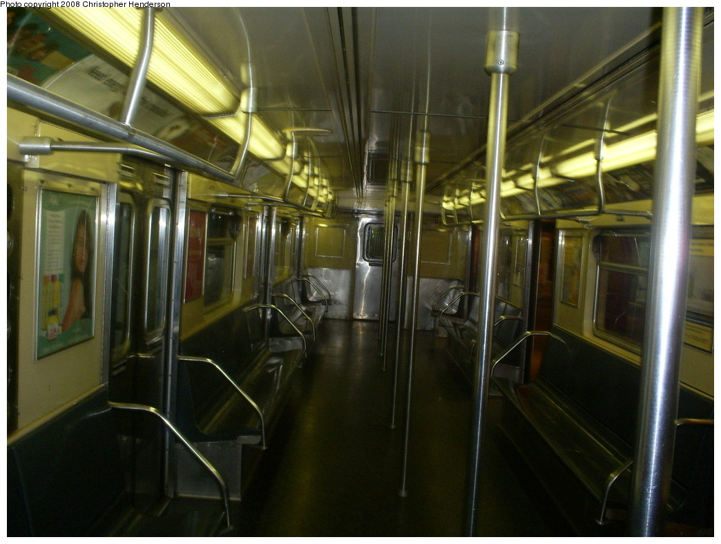 (238k, 1044x788)<br><b>Country:</b> United States<br><b>City:</b> New York<br><b>System:</b> New York City Transit<br><b>Location:</b> New York Transit Museum<br><b>Car:</b> R-32 (Budd, 1964)  3353 <br><b>Photo by:</b> Christopher Henderson<br><b>Date:</b> 7/9/2008<br><b>Notes:</b> R32 3353 on display at Transit Museum.<br><b>Viewed (this week/total):</b> 5 / 5391