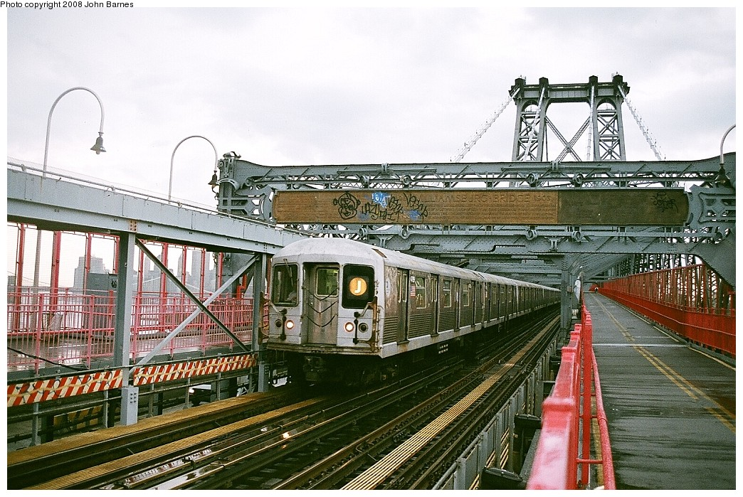 (287k, 1044x699)<br><b>Country:</b> United States<br><b>City:</b> New York<br><b>System:</b> New York City Transit<br><b>Line:</b> BMT Nassau Street/Jamaica Line<br><b>Location:</b> Williamsburg Bridge<br><b>Route:</b> J<br><b>Car:</b> R-42 (St. Louis, 1969-1970)  4709 <br><b>Photo by:</b> John Barnes<br><b>Date:</b> 7/27/2008<br><b>Viewed (this week/total):</b> 0 / 1697