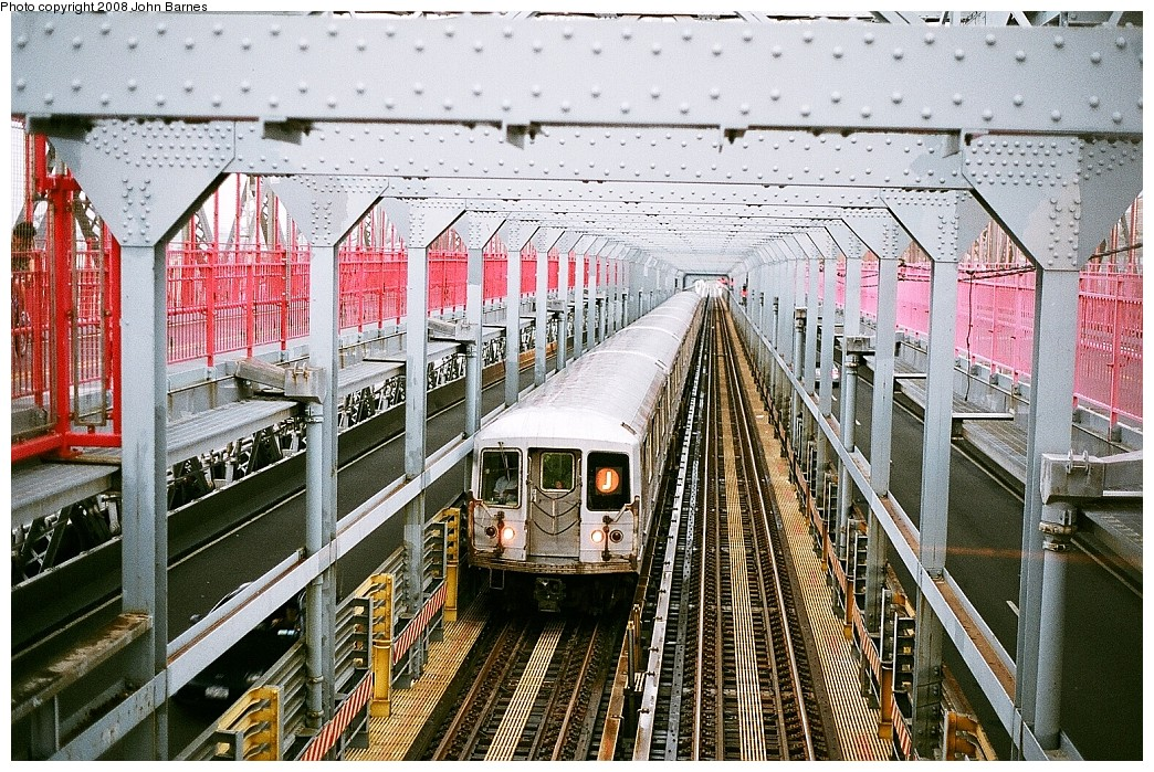 (340k, 1044x699)<br><b>Country:</b> United States<br><b>City:</b> New York<br><b>System:</b> New York City Transit<br><b>Line:</b> BMT Nassau Street/Jamaica Line<br><b>Location:</b> Williamsburg Bridge<br><b>Route:</b> J<br><b>Car:</b> R-42 (St. Louis, 1969-1970)  4716 <br><b>Photo by:</b> John Barnes<br><b>Date:</b> 7/27/2008<br><b>Viewed (this week/total):</b> 1 / 1236
