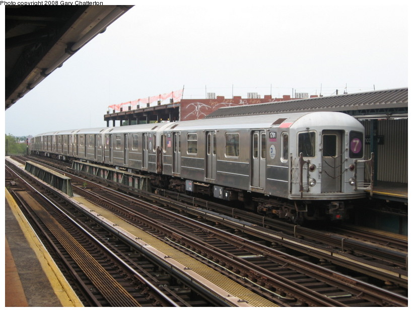 (137k, 820x620)<br><b>Country:</b> United States<br><b>City:</b> New York<br><b>System:</b> New York City Transit<br><b>Line:</b> IRT Flushing Line<br><b>Location:</b> 52nd Street/Lincoln Avenue <br><b>Route:</b> 7<br><b>Car:</b> R-62A (Bombardier, 1984-1987)  1791 <br><b>Photo by:</b> Gary Chatterton<br><b>Date:</b> 8/2/2008<br><b>Viewed (this week/total):</b> 4 / 1075
