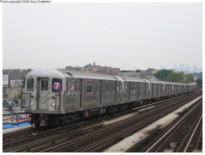 (110k, 820x620)<br><b>Country:</b> United States<br><b>City:</b> New York<br><b>System:</b> New York City Transit<br><b>Line:</b> IRT Flushing Line<br><b>Location:</b> 52nd Street/Lincoln Avenue <br><b>Route:</b> 7<br><b>Car:</b> R-62A (Bombardier, 1984-1987)  2131 <br><b>Photo by:</b> Gary Chatterton<br><b>Date:</b> 8/2/2008<br><b>Viewed (this week/total):</b> 0 / 581