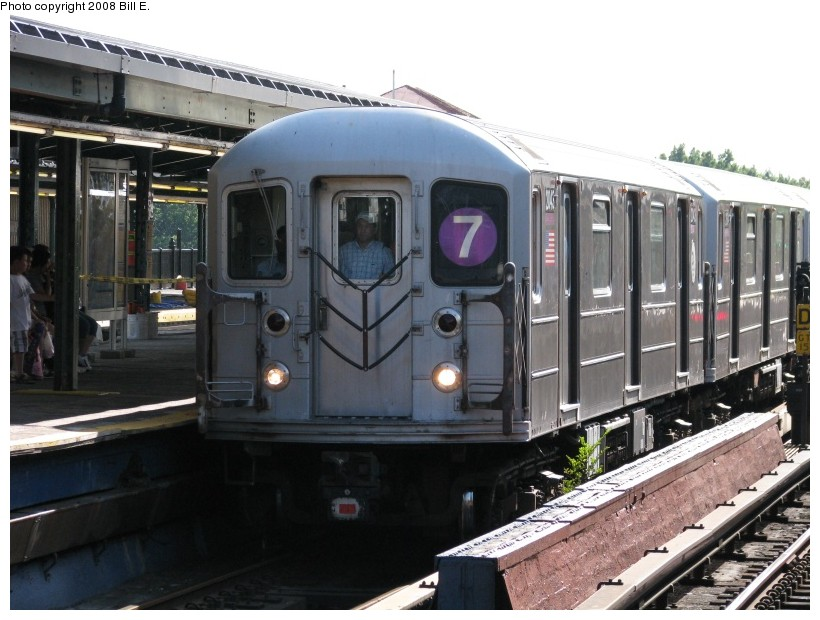 (135k, 820x620)<br><b>Country:</b> United States<br><b>City:</b> New York<br><b>System:</b> New York City Transit<br><b>Line:</b> IRT Flushing Line<br><b>Location:</b> Willets Point/Mets (fmr. Shea Stadium) <br><b>Route:</b> 7<br><b>Car:</b> R-62A (Bombardier, 1984-1987)  2043 <br><b>Photo by:</b> Bill E.<br><b>Date:</b> 8/3/2008<br><b>Viewed (this week/total):</b> 0 / 1278