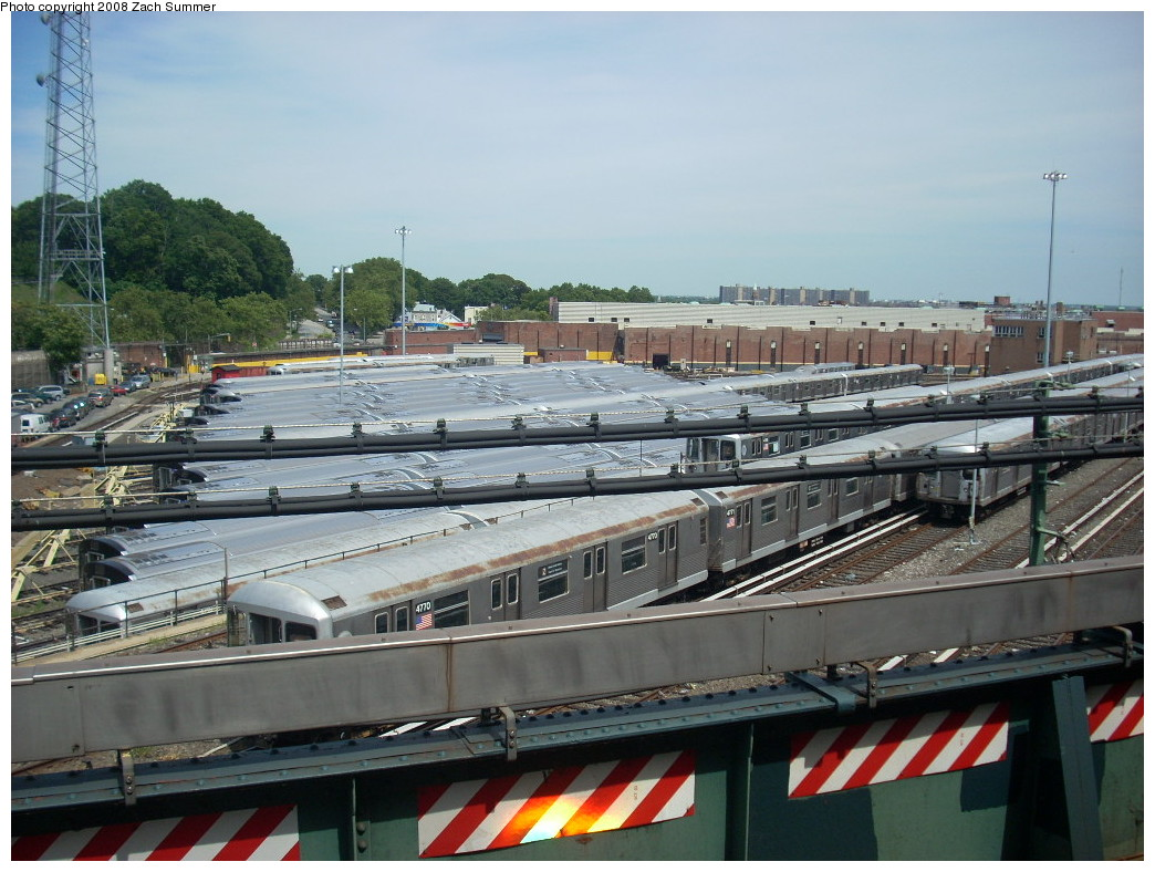 (261k, 1044x788)<br><b>Country:</b> United States<br><b>City:</b> New York<br><b>System:</b> New York City Transit<br><b>Location:</b> East New York Yard/Shops<br><b>Photo by:</b> Zach Summer<br><b>Date:</b> 7/10/2008<br><b>Viewed (this week/total):</b> 0 / 681