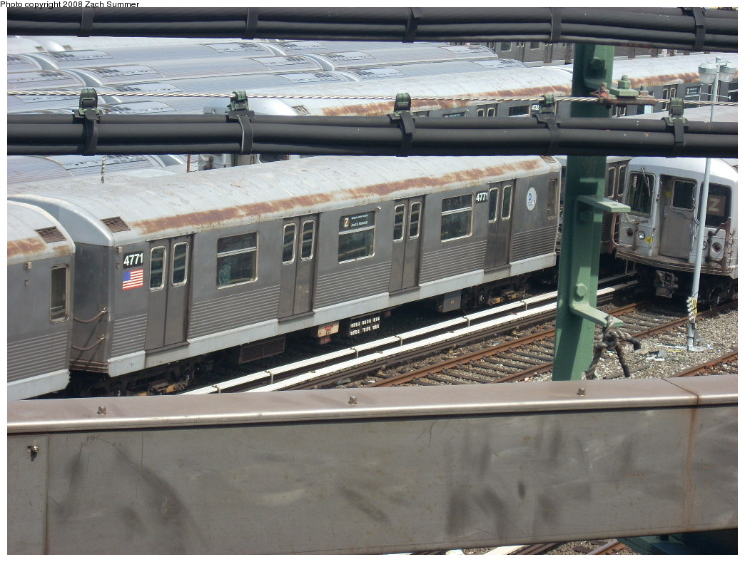 (263k, 1044x788)<br><b>Country:</b> United States<br><b>City:</b> New York<br><b>System:</b> New York City Transit<br><b>Location:</b> East New York Yard/Shops<br><b>Car:</b> R-42 (St. Louis, 1969-1970)  4771 <br><b>Photo by:</b> Zach Summer<br><b>Date:</b> 7/10/2008<br><b>Viewed (this week/total):</b> 2 / 583