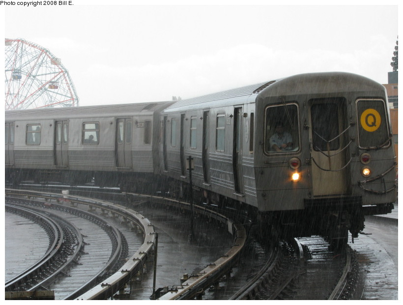 (120k, 820x620)<br><b>Country:</b> United States<br><b>City:</b> New York<br><b>System:</b> New York City Transit<br><b>Location:</b> Coney Island/Stillwell Avenue<br><b>Route:</b> Q<br><b>Car:</b> R-68A (Kawasaki, 1988-1989)  5032 <br><b>Photo by:</b> Bill E.<br><b>Date:</b> 8/8/2008<br><b>Viewed (this week/total):</b> 2 / 1456