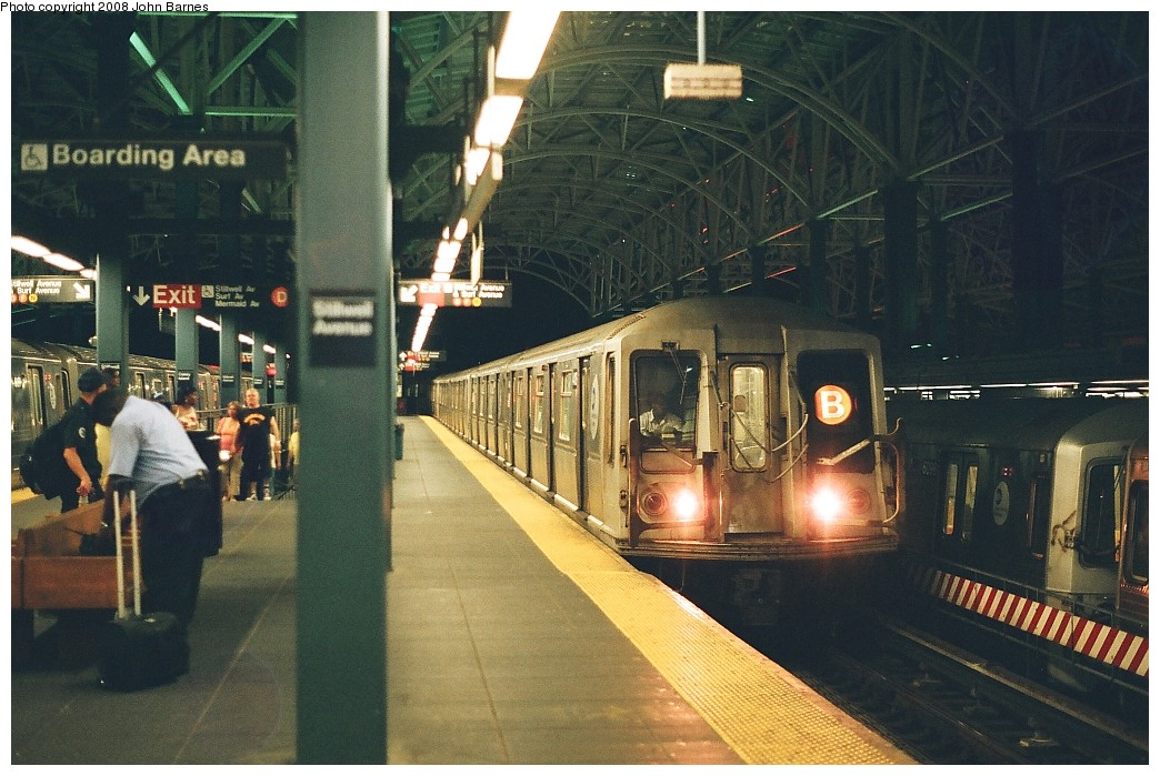 (230k, 1044x699)<br><b>Country:</b> United States<br><b>City:</b> New York<br><b>System:</b> New York City Transit<br><b>Location:</b> Coney Island/Stillwell Avenue<br><b>Route:</b> B yard move<br><b>Car:</b> R-40 (St. Louis, 1968)  4404 <br><b>Photo by:</b> John Barnes<br><b>Date:</b> 7/31/2008<br><b>Viewed (this week/total):</b> 0 / 1197