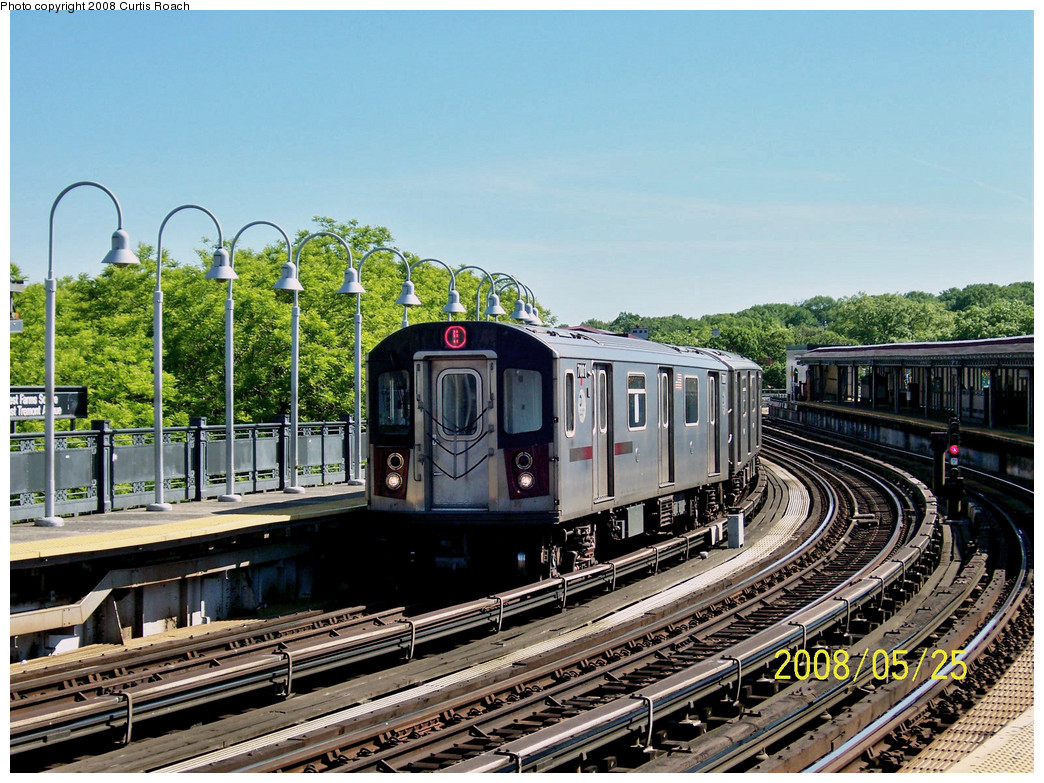 (347k, 1044x783)<br><b>Country:</b> United States<br><b>City:</b> New York<br><b>System:</b> New York City Transit<br><b>Line:</b> IRT White Plains Road Line<br><b>Location:</b> West Farms Sq./East Tremont Ave./177th St. <br><b>Route:</b> 5<br><b>Car:</b> R-142 (Option Order, Bombardier, 2002-2003)  7001 <br><b>Photo by:</b> Curtis Roach<br><b>Date:</b> 5/25/2008<br><b>Viewed (this week/total):</b> 0 / 1881