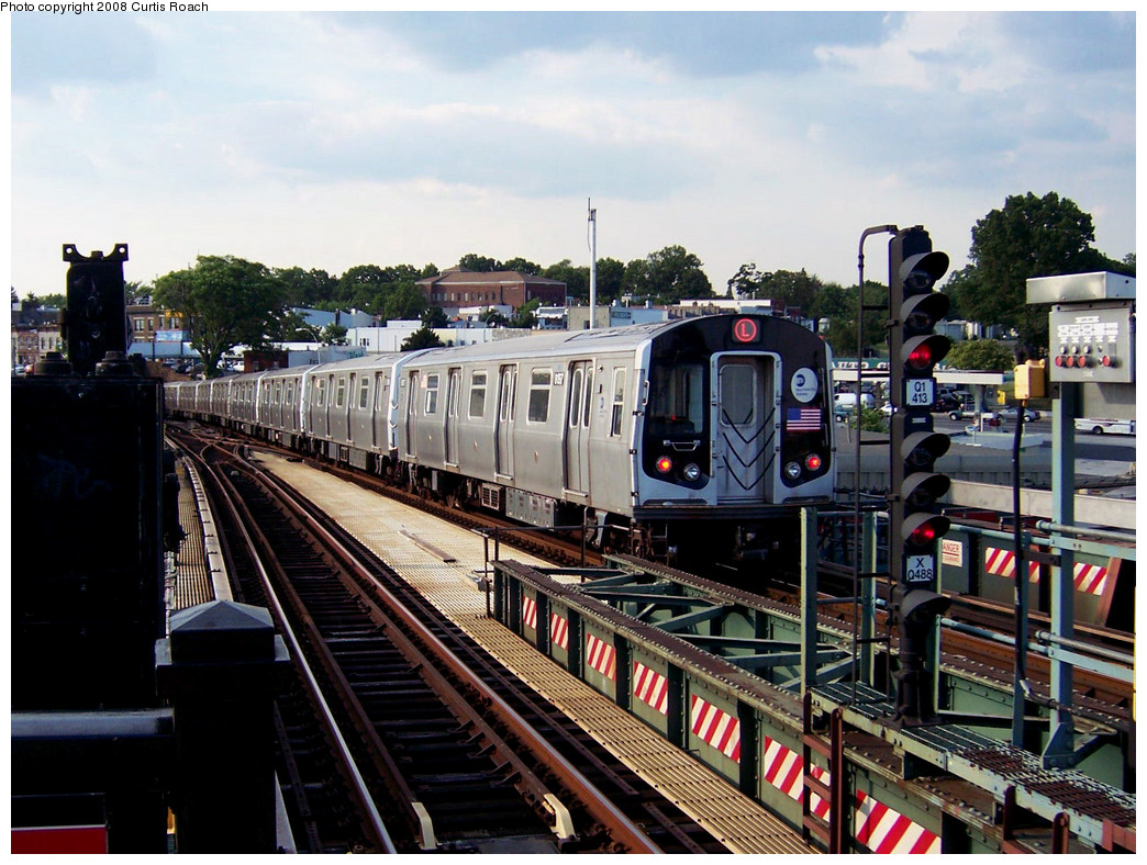 (312k, 1044x788)<br><b>Country:</b> United States<br><b>City:</b> New York<br><b>System:</b> New York City Transit<br><b>Line:</b> BMT Canarsie Line<br><b>Location:</b> Broadway Junction <br><b>Route:</b> L<br><b>Car:</b> R-143 (Kawasaki, 2001-2002) 8157 <br><b>Photo by:</b> Curtis Roach<br><b>Date:</b> 7/25/2008<br><b>Viewed (this week/total):</b> 1 / 1359