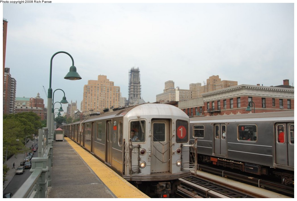 (169k, 1044x706)<br><b>Country:</b> United States<br><b>City:</b> New York<br><b>System:</b> New York City Transit<br><b>Line:</b> IRT West Side Line<br><b>Location:</b> 125th Street <br><b>Route:</b> 1<br><b>Car:</b> R-62A (Bombardier, 1984-1987)  2171 <br><b>Photo by:</b> Richard Panse<br><b>Date:</b> 8/2/2008<br><b>Viewed (this week/total):</b> 1 / 843