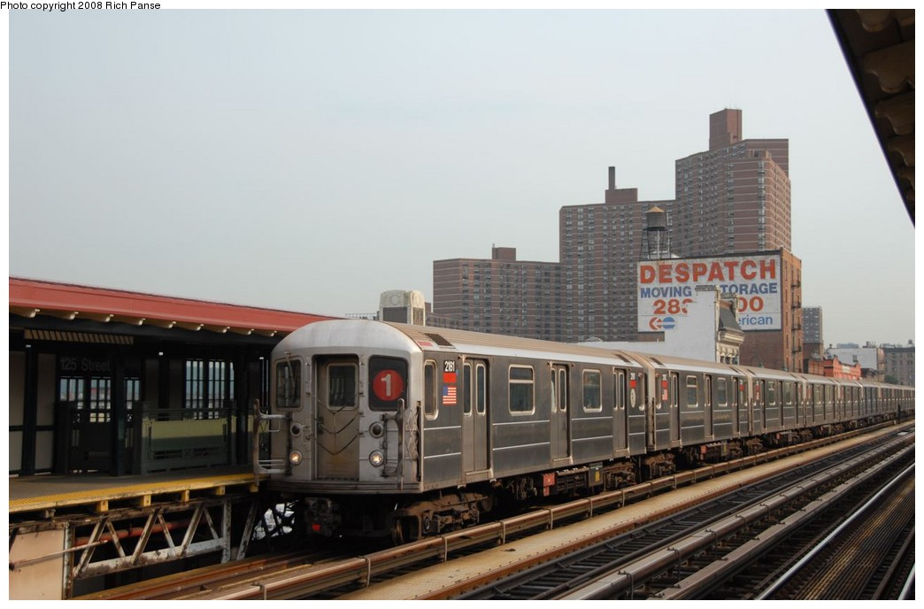 (147k, 1044x688)<br><b>Country:</b> United States<br><b>City:</b> New York<br><b>System:</b> New York City Transit<br><b>Line:</b> IRT West Side Line<br><b>Location:</b> 125th Street <br><b>Route:</b> 1<br><b>Car:</b> R-62A (Bombardier, 1984-1987)  2181 <br><b>Photo by:</b> Richard Panse<br><b>Date:</b> 8/2/2008<br><b>Viewed (this week/total):</b> 1 / 798