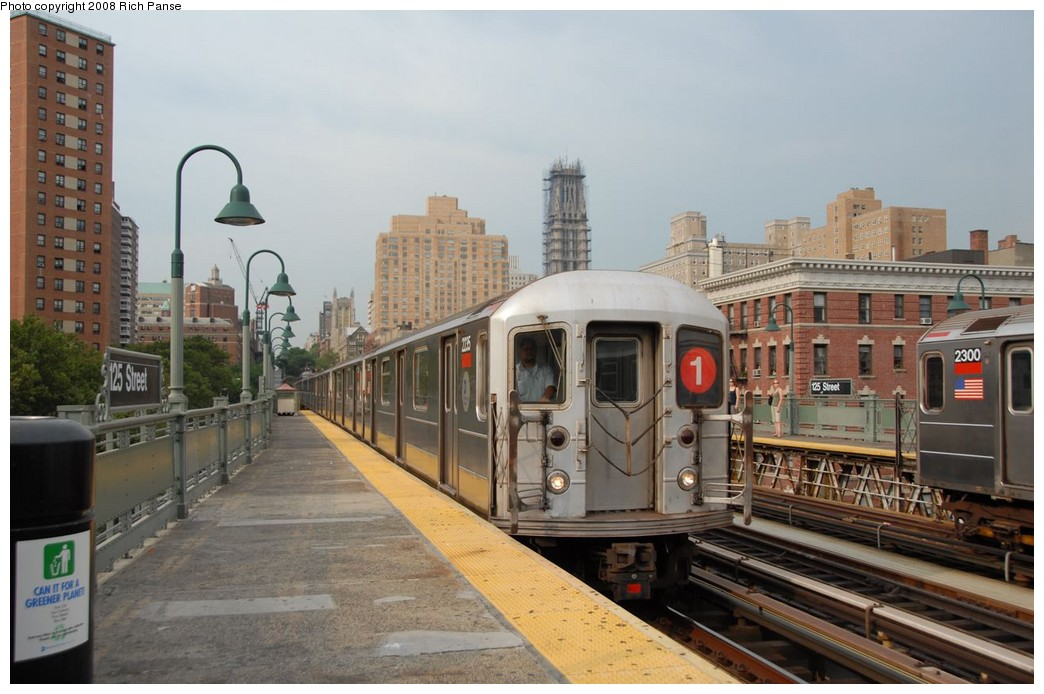(174k, 1044x694)<br><b>Country:</b> United States<br><b>City:</b> New York<br><b>System:</b> New York City Transit<br><b>Line:</b> IRT West Side Line<br><b>Location:</b> 125th Street <br><b>Route:</b> 1<br><b>Car:</b> R-62A (Bombardier, 1984-1987)  2235 <br><b>Photo by:</b> Richard Panse<br><b>Date:</b> 8/2/2008<br><b>Viewed (this week/total):</b> 0 / 1260