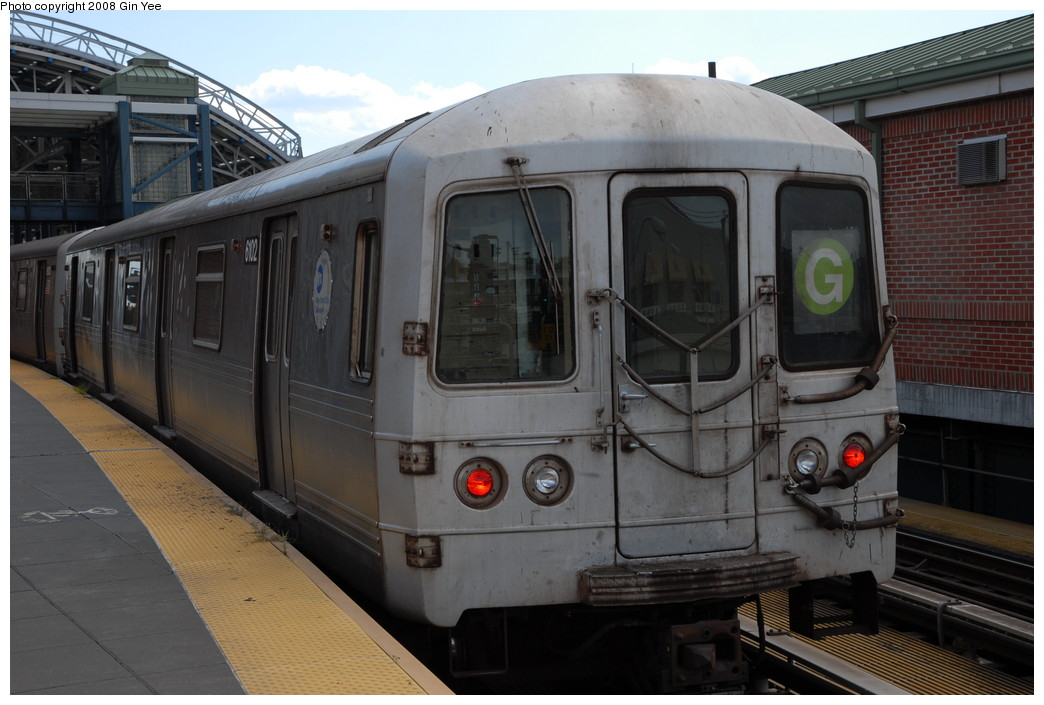 (207k, 1044x705)<br><b>Country:</b> United States<br><b>City:</b> New York<br><b>System:</b> New York City Transit<br><b>Location:</b> Coney Island/Stillwell Avenue<br><b>Route:</b> G<br><b>Car:</b> R-46 (Pullman-Standard, 1974-75) 6012 <br><b>Photo by:</b> Gin Yee<br><b>Date:</b> 8/17/2008<br><b>Viewed (this week/total):</b> 2 / 998