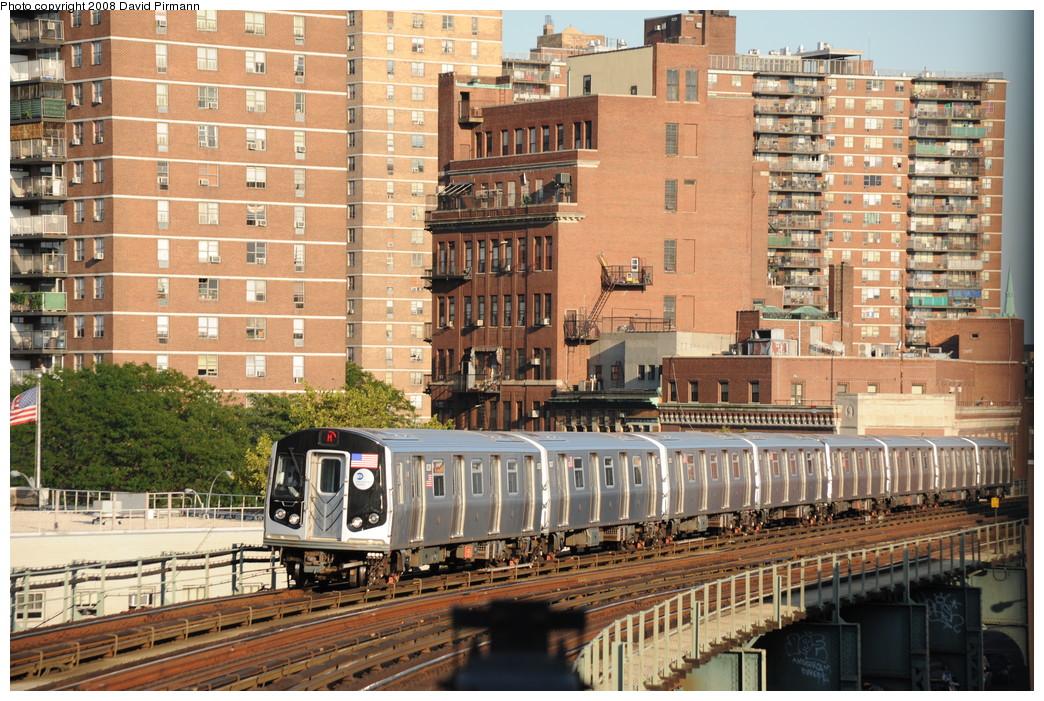 (348k, 1044x701)<br><b>Country:</b> United States<br><b>City:</b> New York<br><b>System:</b> New York City Transit<br><b>Line:</b> BMT Nassau Street/Jamaica Line<br><b>Location:</b> Hewes Street <br><b>Route:</b> M<br><b>Car:</b> R-160A-1 (Alstom, 2005-2008, 4 car sets)  8328 <br><b>Photo by:</b> David Pirmann<br><b>Date:</b> 8/21/2008<br><b>Viewed (this week/total):</b> 3 / 1359